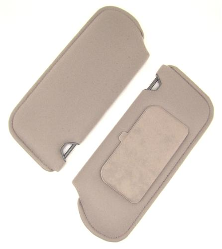 Mustang Sun Visors with Vanity Mirror Titanium Gray Cloth (90-92)