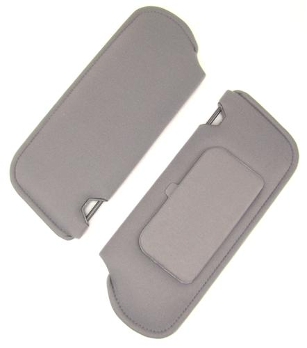 Mustang Sun Visors with Vanity Mirror Opal Gray Cloth (1993)