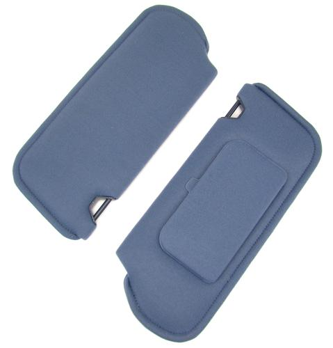 Mustang Sun Visors with Vanity Mirror Royal Blue Cloth (1993)