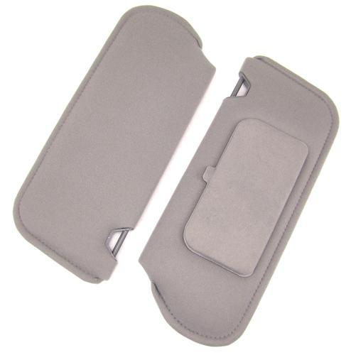 Mustang Sun Visors with Vanity Mirror Light Gray Cloth (85-86)