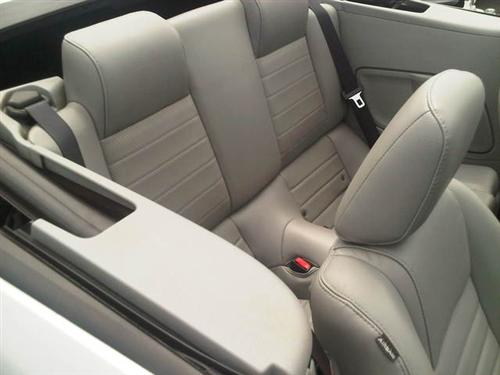 2005-06 Mustang Leather Upholstery Kit, Medium Dove, Coupe   - Picture of 2005-06 Mustang Leather Upholstery Kit, Medium Dove, Coupe  This Is Acme Replacement Leather for 05-06 Without Side Airbag. Will Fit V6-GT. In 2010+ Grain