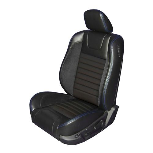 Mustang Sport R Upholstery Black/ Blue Stitching Leather (05-07) GT-V6 Coupe