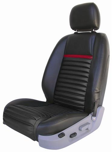 Mustang Mach 1 Upholstery Black/Red Stripe Leather (05-07) GT-V6 Coupe