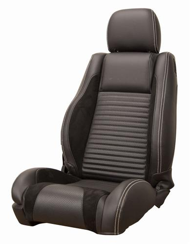 Mustang Sport R Upholstery Black/ White Stitching Vinyl (05-07) GT-V6 Coupe