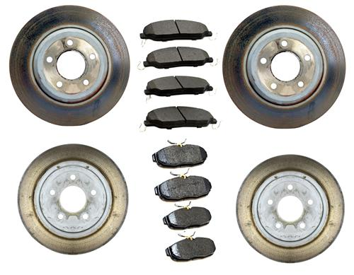 Mustang Take Off Brake Rotor & Pad Kit (05-10) GT 4.6