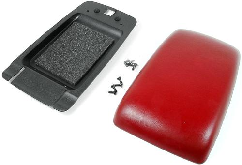 87-93 MUSTANG CENTER CONSOLE ARM REST PAD KIT, SCARLET RED