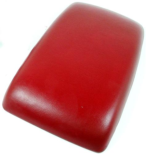 87-93 MUSTANG CENTER CONSOLE ARM REST PAD, SCARLET RED