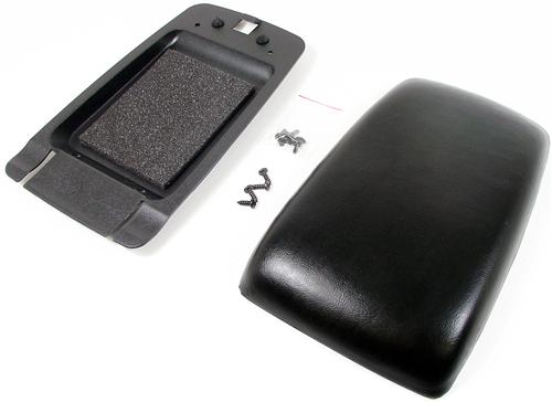 Mustang Center Console Arm Rest Pad Kit Black (87-93)