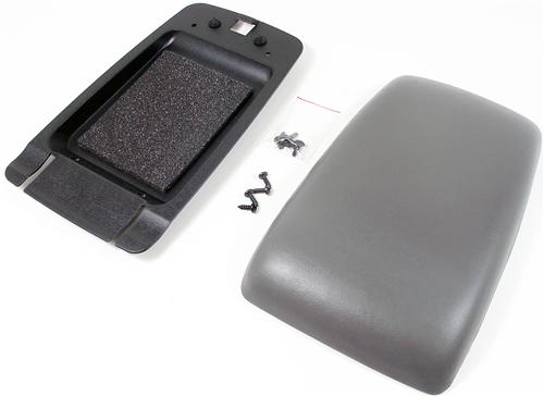 87-93 MUSTANG CENTER CONSOLE ARM REST PAD KIT, SMOKE GRAY