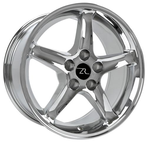Mustang Cobra R Wheel - 17X9 Chrome (94-04) - Mustang Cobra R Wheel - 17X9 Chrome (94-04)