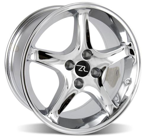 Mustang Cobra R Wheel - 17X9 Chrome (79-93) - Picture of Mustang Cobra R Wheel - 17X9 Chrome (79-93)