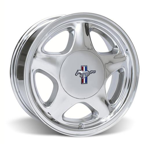 Mustang Pony Wheel & Center Cap - 16x7 Chome (79-93)