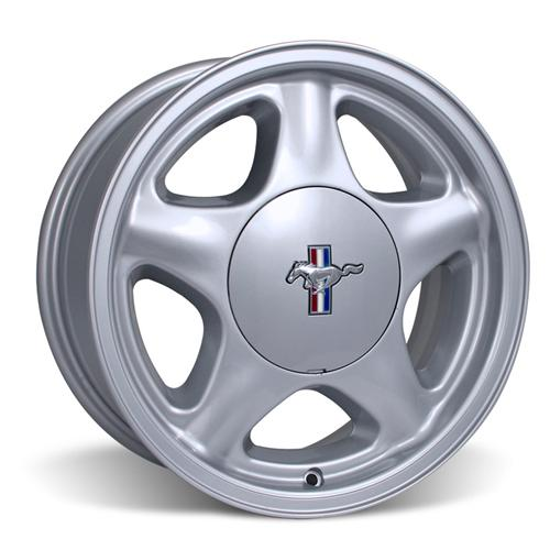 Mustang Pony Wheel & Center Cap - 16X7 Silver (79-93) - Mustang Pony Wheel & Center Cap - 16X7 Silver (79-93)