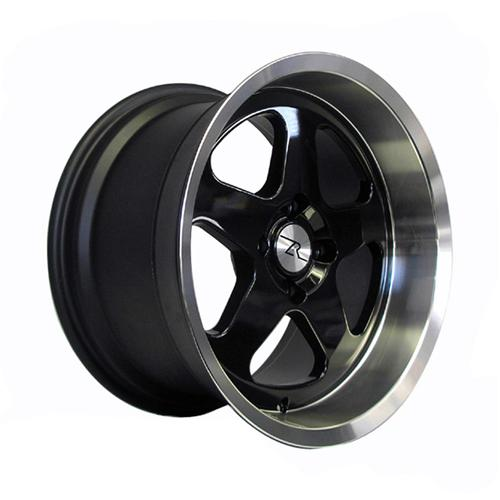 Mustang Deep Dish SC Wheel - 17X10 Black W/ Machined Lip (94-04)