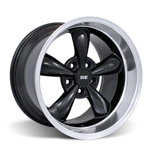 Mustang Deep Dish Bullitt Wheel - 18X10 Black (94-04)