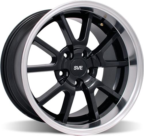 Mustang Deep Dish Fr500 Wheel - 17X10.5 Black (94-04)