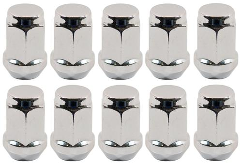 Mustang Chrome Lug Nut with 1/2 Thread 20Pc Kit