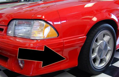 Mustang Front 93 Cobra Style Fender Extensions (87-90) 4332