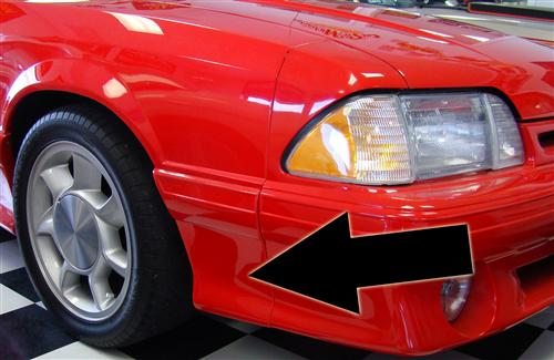 Mustang 93 Cobra Style Fender Extensions (91-93)
