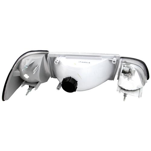 Mustang Economy Headlight Kit with Clear Sidemarkers (87-93) - Mustang Economy Headlight Kit with Clear Sidemarkers (87-93)