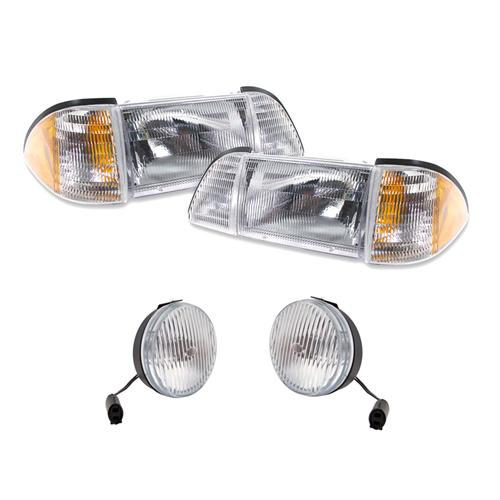 87-93 Mustang Headlight & Fog Light Kit