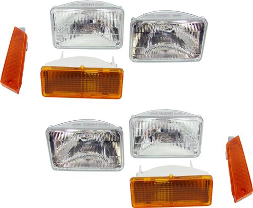 79-86 MUSTANG 8 PIECE HEADLIGHT KIT