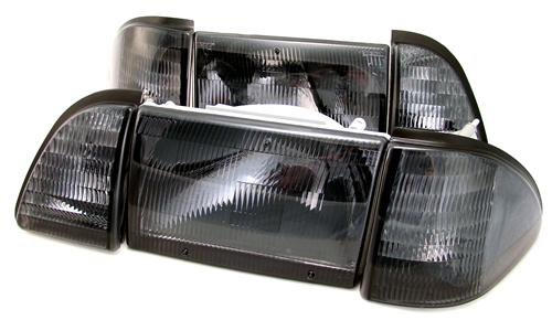Ford Mustang Smoked Headlights (87-93)