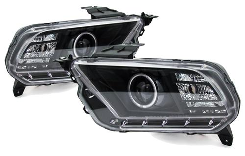Mustang Black Ccfl Halo Projector Headlight Kit (10-12)