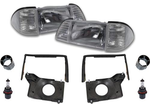 87-93 MUSTANG DELUXE HEADLIGHT KIT WITH CLEAR SIDEMARKERS