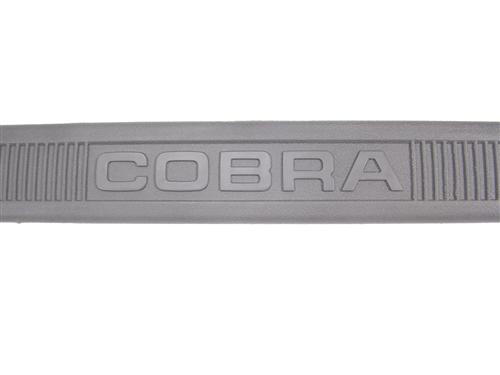 Mustang Cobra Text Scuff Plates Gray  (79-93)
