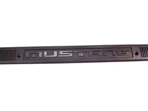 Mustang Logo Scuff Plates Black (79-93)