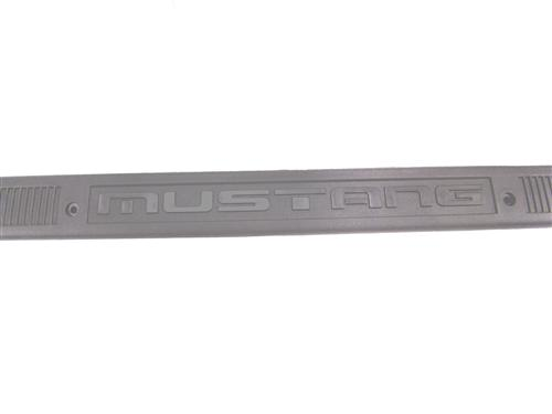Mustang Logo Scuff Plates Gray  (79-93)