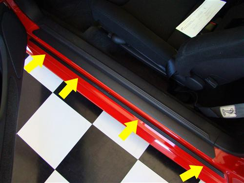 Mustang Logo Rocker Molding Trim Right Hand  (99-04)