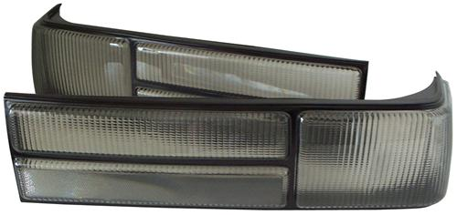Mustang Smoked LX Tail Light Lens Kit (87-93)