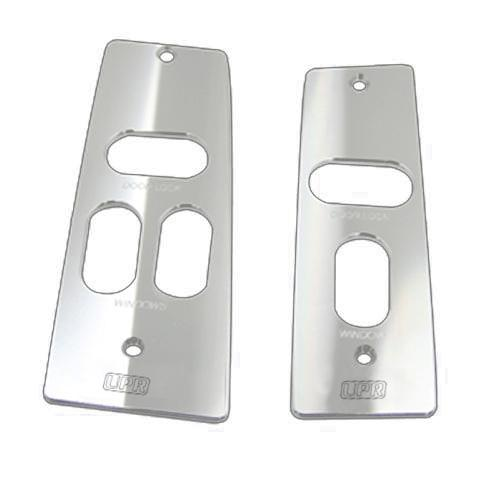 Mustang Window Switch Covers Satin Billet with UPR Logo  (87-93)