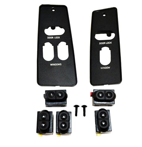87-93 MUSTANG WINDOW SWITCH & SWITCH COVER KIT FOR COUPE & HATCHBACK