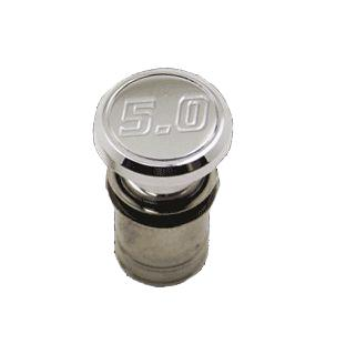Mustang Cigarette Lighter Knob with 5.0 Logo Polished
