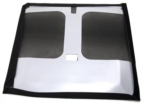 Mustang Headliner with Abs Board  Black Cloth (83-88) Hatchback with T-Tops - Picture of Mustang Headliner with Abs Board  Black Cloth (83-88) Hatchback with T-Tops