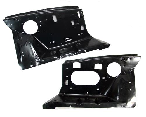 Mustang Front Fender Apron Pair with Factory Holes (86-93)