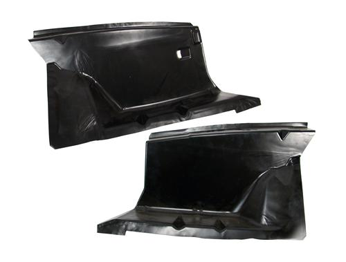 79-93 MUSTANG FRONT FENDER APRON PAIR, COMPLETELY SMOOTH - NO HOLES!