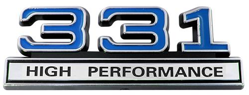Mustang 331 High Performance Emblem Blue