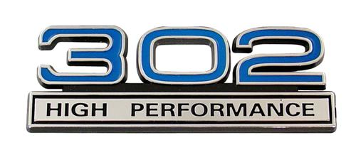 Mustang 302 High Performance Emblem Blue