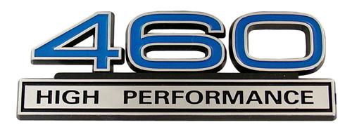 Mustang  460 High Performance Emblem Blue