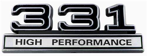 Mustang 331 High Performance Emblem Black