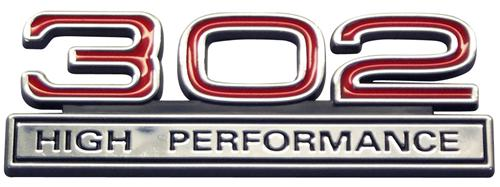 Mustang 302 High Performance Emblem Red