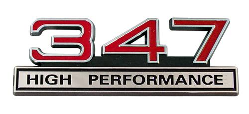 Mustang 347 High Performance Emblem Red