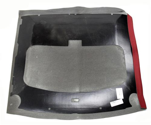 Mustang Headliner with Abs Board Scarlet Red Cloth (87-92) Hatchback With Sunroof  - Picture of Mustang Headliner with Abs Board Scarlet Red Cloth (87-92) Hatchback With Sunroof