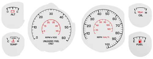 Mustang White Face Gauge Kit (79-82)