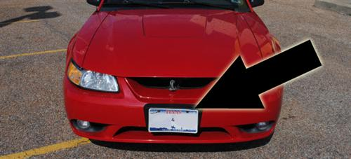 Mustang Cobra Front License Plate Bracket (99-04)