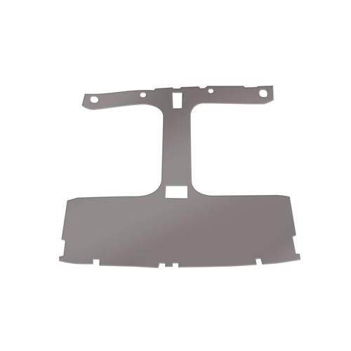 Mustang Cloth Headliner w/ ABS Board Smoke Gray (87-88) Hatchback w/ T-Tops
